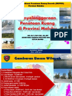 Penyelenggaraan Penataan Ruang di Provinsi Maluku