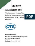 TQM Project