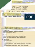 Syringe Pump Dan Infus Pump