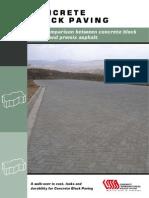 Concrete Block Paving - Cost Comparison Between Concrete Block Paving and Premix Asphalt
