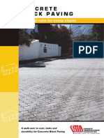 Concrete Block Paving - Technical Note for Steep Slopes