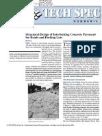 Interlocking Concrete Pavers Structural Design for Roads and Parking Lots -Tech Spec 4