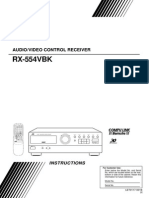 JVC RX-554VBK Owner's Manual