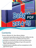 Budget Outline of 2071-72 Nepal