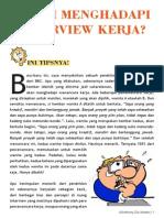 GROGI INTERVIEW KERJA? BACALAH INI by Anthony Dio Martin