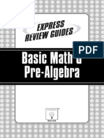 Express Review Guides Basic Math Pre Algebra