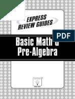 Express Review Guides Basic Math Pre Algebra