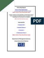 Internship Report Format New 2
