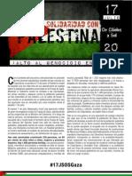 Manifiesto 17 Julio SOS Gaza