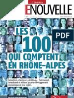 Les 100 qui comptent en Rhône-alpes - supplément 3169