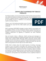 SCOPH Statement on Graphic Health Warnings for Tobacco Products