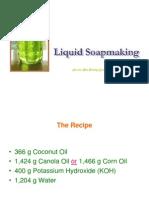 Liquid Soap Making