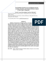 Pigment Extraction Techniques From the Leave of Indigofera Tinctoria Linn. and Baphicacanthus Cusia Brem. and Chemical Structure Analysis of Their Major Components