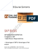SAP BASIS Course Contents