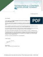 Delegate Welcome Letter