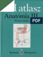 Werner Platzer SH atlasz Anatómia III. kötet