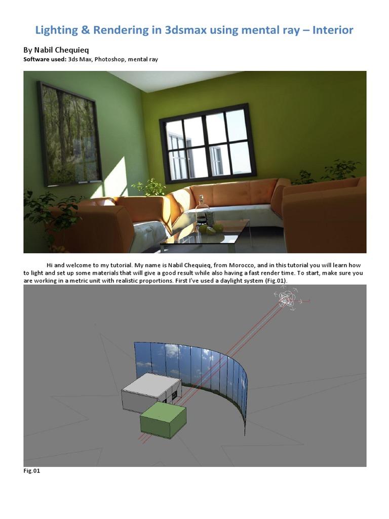 Lighting & Rendering in 3dsmax using mental ray – Interior pdf