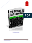 20 Days of 2d CAD Exercises Part I