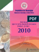 Informe Ejecucion Presupuestaria Enero-junio 2010