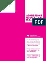 Admission 2014-15 Brochure Final