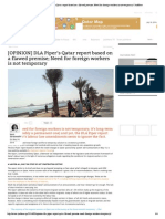 [OPINION] DLA Piper's Qatar Report Based on a Flawed Premise; Need for Foreign Workers is Not Temporary _ JustHere