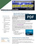 Dream Divers December 2009 Newsletter