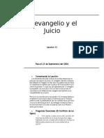 Lyle Bennett - El Evangelio y El Juicio Leccion 13