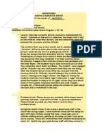 Education Coordinator Report