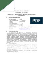 Silabo de Desarrollo de Materiales y Recursos Educativos Ramón Barturén 2013-II