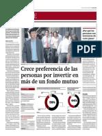 Crece Preferencia de Personas Por Invertir en Más de Un Fondo Mutuo_Gestión 18-07-2014