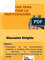 TECNICAS FOMENTAR PARTICIPACION
