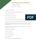 Información Basica Para Un Proyecto de Agua Potable