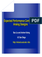 Expected Performance Centering for Analog Designs