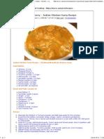 Karaikudi Chicken Curry