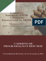 Caderno de Programação e Resumos ABHR