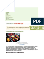 Ingredientes antioxidantes