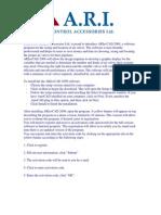 Instructions of ARI