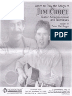 Jim Croce Guitar Accompaniment & Techniques