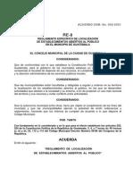 RE-8 - Reglamento de Establecimientos Abiertos Al Publico