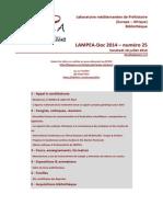 LAMPEA-Doc 2014 – numéro 25 / Vendredi 18 juillet 2014