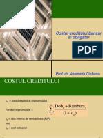Cost Creditului Bancar Si Obligatar