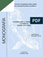 Sismicidad Tectonica Peru Bernal Tavera- Trabj. Monografico