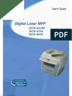 Scx4216fUSER Manual