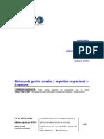 INTE OHSAS 18001-2009