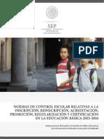 Normas de Control Escolar 2013-2014