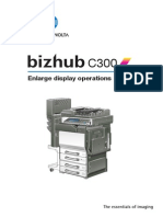 Bizhub c300 Enlarge display
