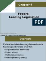 Federal Lending Legislation