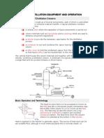 Basic Distillation Equipment and Operation