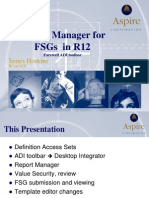 Oracle R12 Report Manager FSG XML Reports