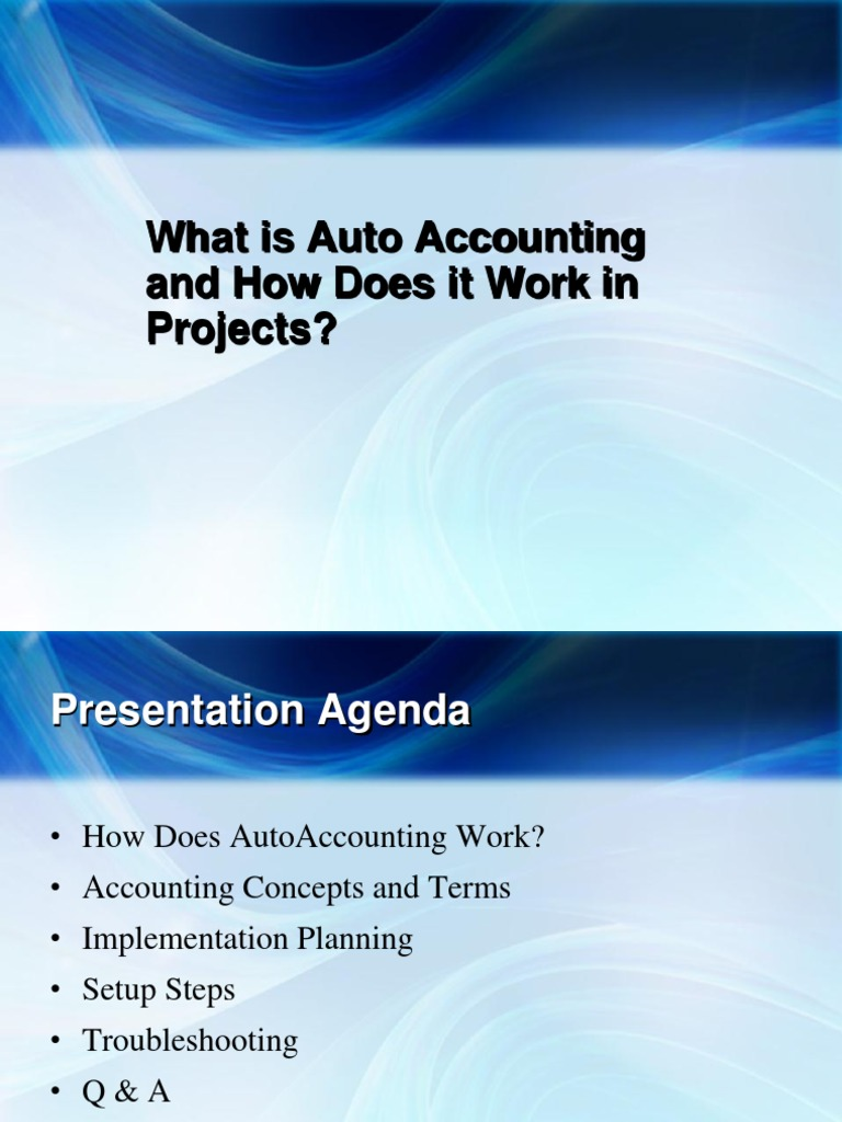 Oracle EBS Projects AutoAccounting Overview | Debits And ...